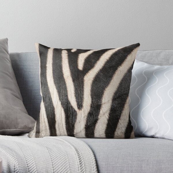 Zebra Stripes|Zebra Pattern|African Animal Fur|Zebra Lover Throw Pillow