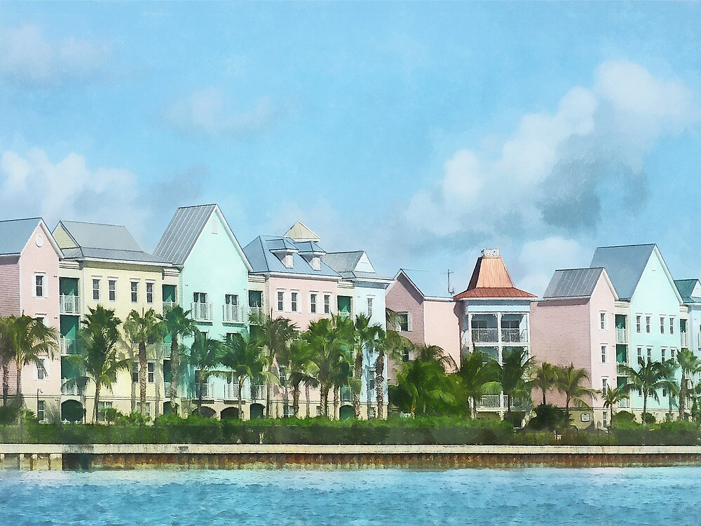Caribbean - Leaving Paradise Island by Susan Savad