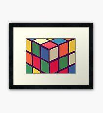 Vintage Cubes Framed Print