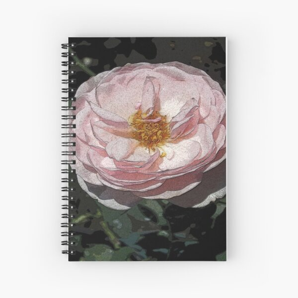 LOTS OF PETALS ROSE STIPPLED IN PINK ROMANTIC Spiral Notebook