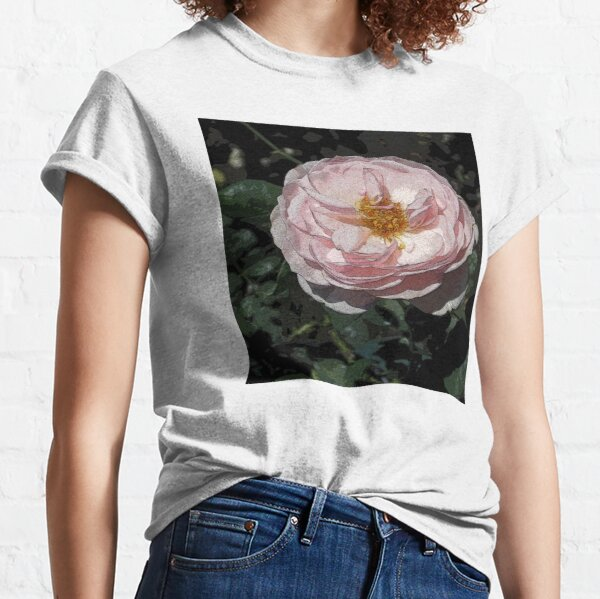 LOTS OF PETALS ROSE STIPPLED IN PINK ROMANTIC Classic T-Shirt