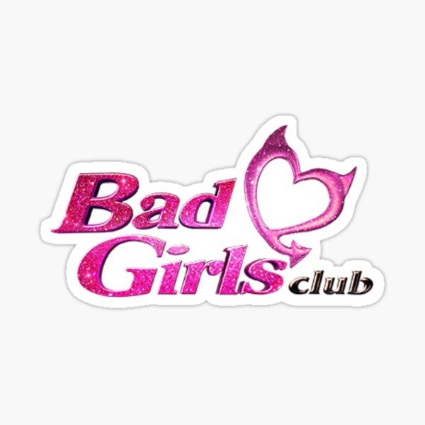 Logotipo de bad girls club rosa Pegatina