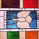 Dove Stain Glass - iPad Case by Betty  Town Duncan