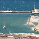 sailboat & Fort St. Jean, Marseille, France by Jim Sugrue