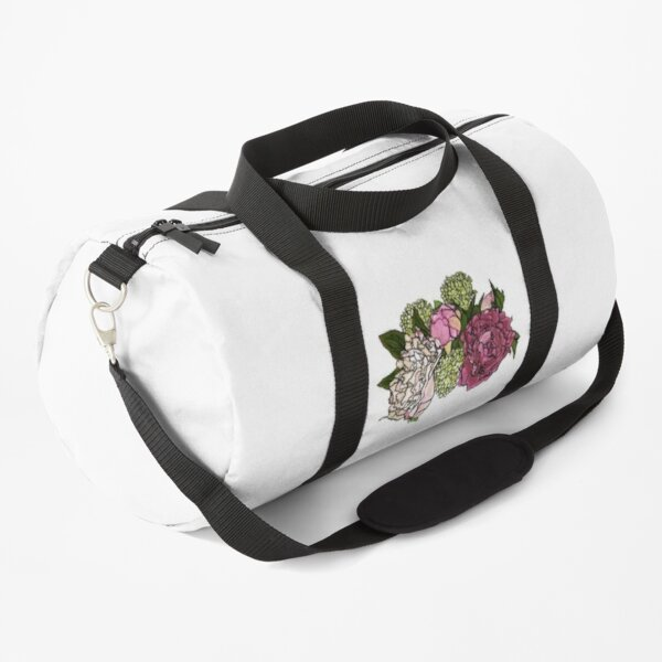 Peonies and Blooms Bunch Graphic Art Watercolor Duffle Bag