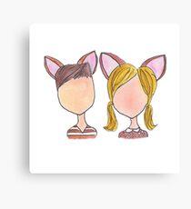 Bambi and Faline Canvas Print