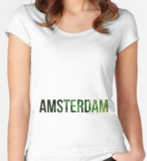 Amsterdam Weed Women's Fitted Scoop T-Shirt