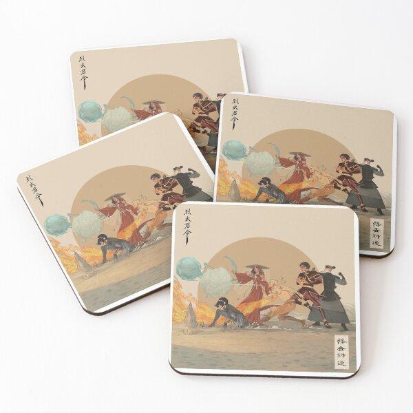 Avatar the Last Airbender - ATLA AU (LoK) Coasters (Set of 4)