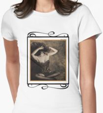 Sensuality in Sepia - Self Portrait Womens Fitted T-Shirt