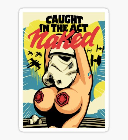 Caught in the Act Sticker