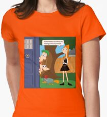 Phineas & Ferb Who Women's Fitted T-Shirt