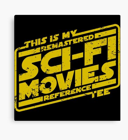 Sci-fi Movie Tee Canvas Print