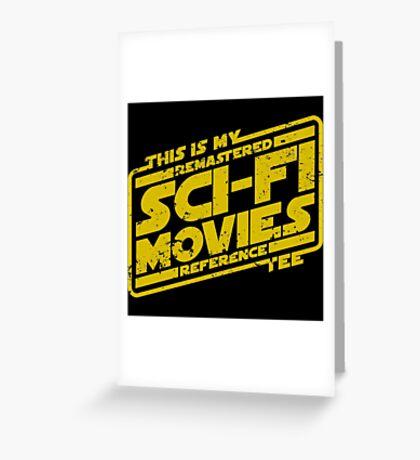 Sci-fi Movie Tee Greeting Card