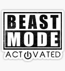 Beast Mode Bodybuilding Gym Sports Motivation Sticker