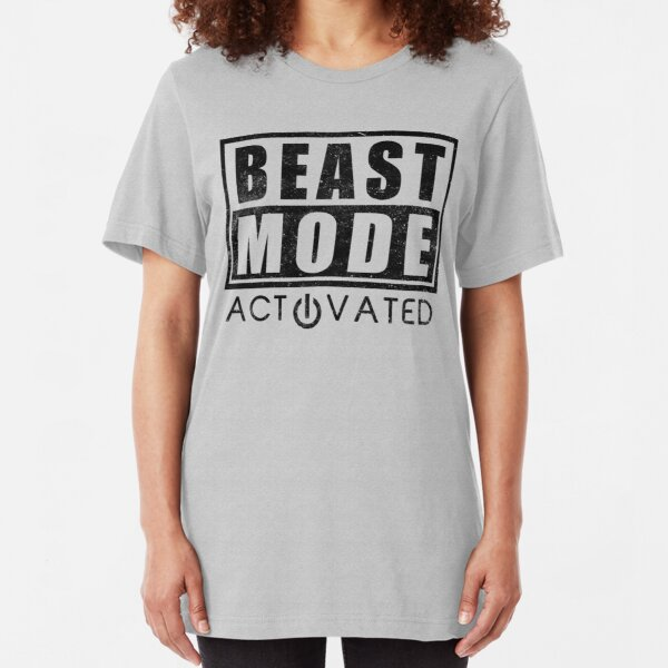 Beast Mode Bodybuilding Gym Sports Motivation Slim Fit T-Shirt