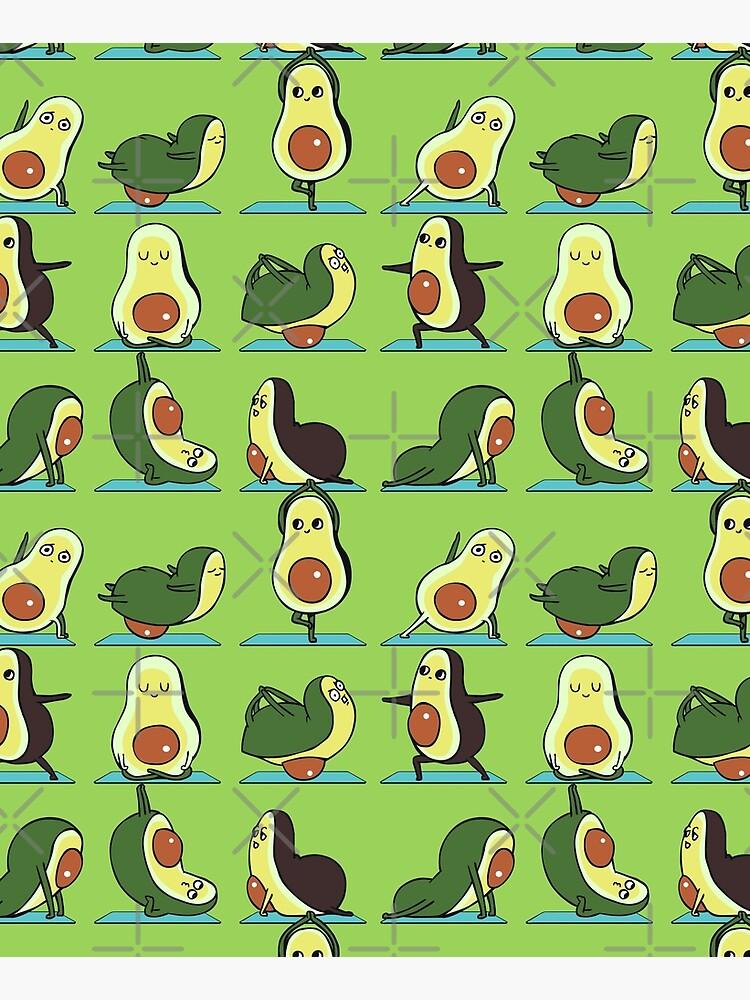 Avocado Yoga by Huebucket