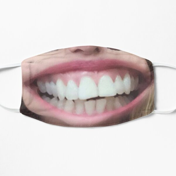 Fun Human grin coronavirus face mask Flat Mask