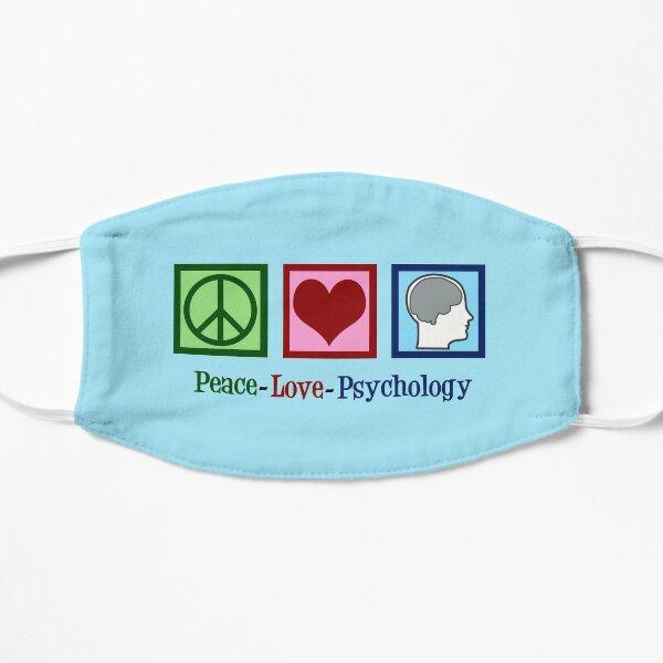 Peace Love Psychology Flat Mask
