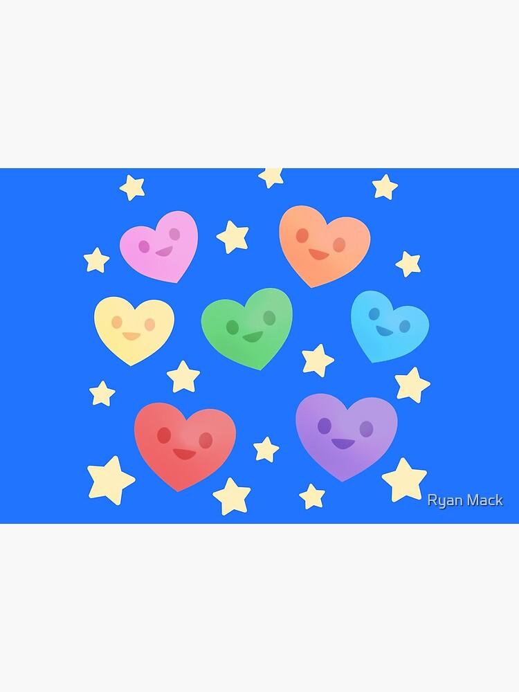 Happy Little Rainbow Hearts by ryanpmack
