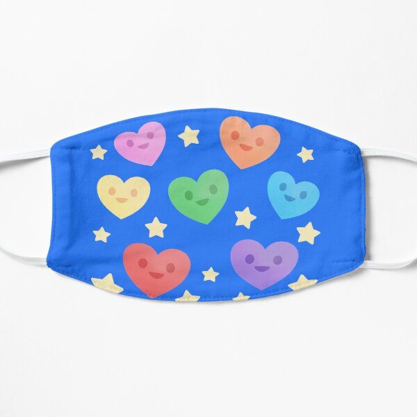 Happy Little Rainbow Hearts Mask