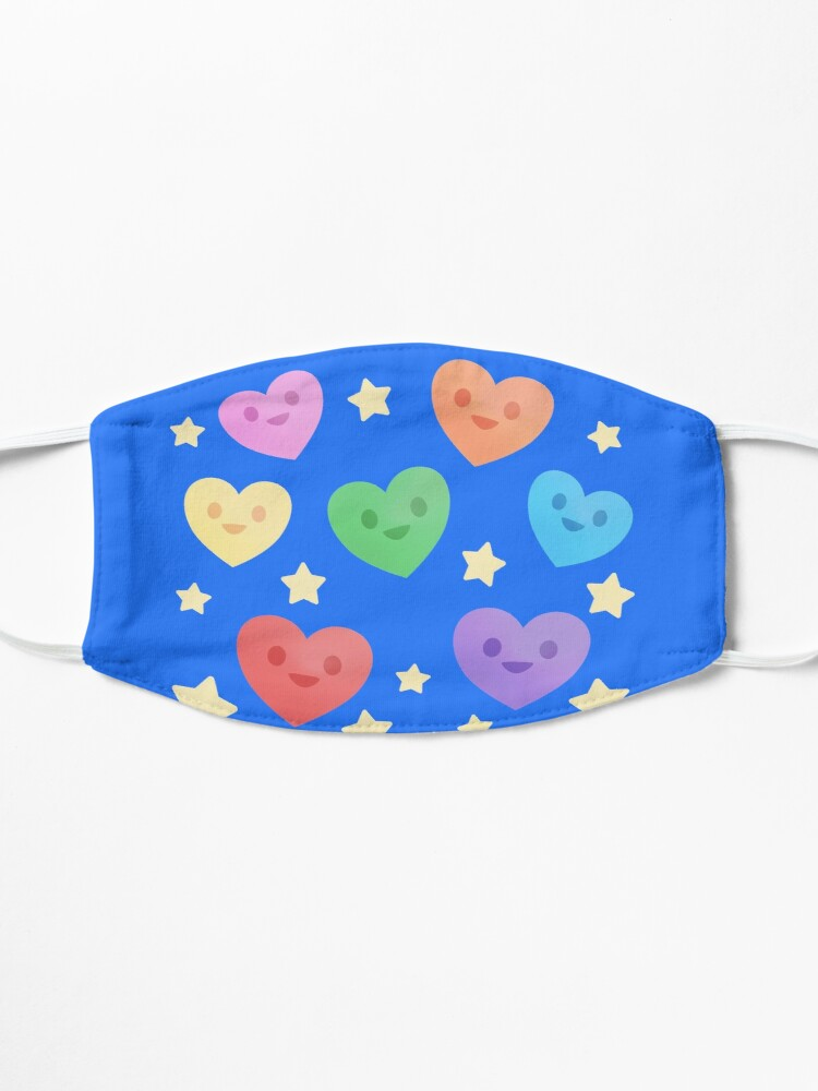 Alternate view of Happy Little Rainbow Hearts Mask