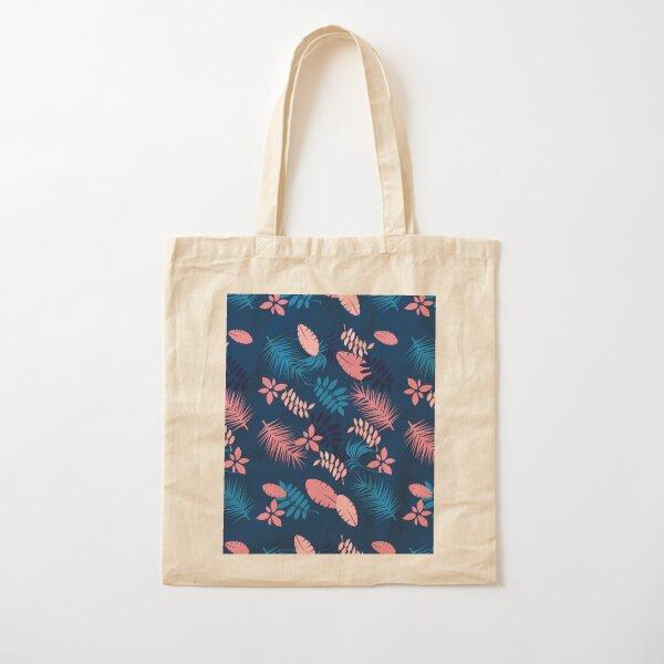 Blue Summer Perennial Cotton Tote Bag