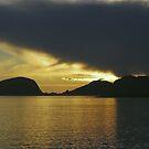 Sunset over the Fjords by Steve plowman