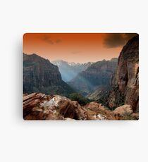 zion park utah mountains landscape scenic sunset Canvas Print