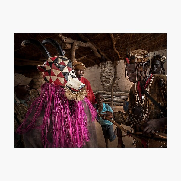 Donso Hunters Mask in Samogohiri Photographic Print