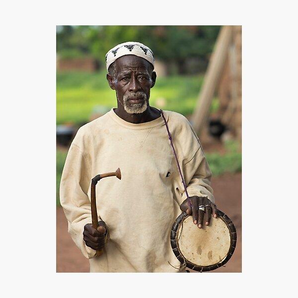 Drum Player Photographic Print