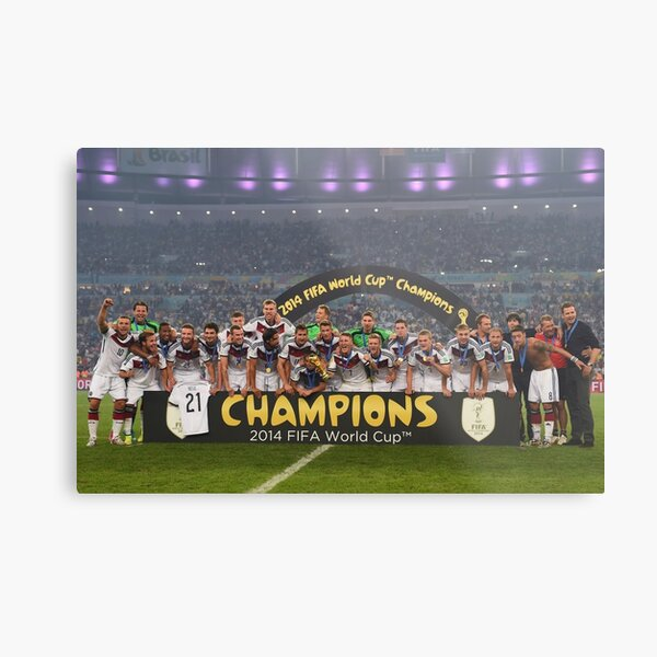 Germany World Cup 2014 Champions Picture Metal Print