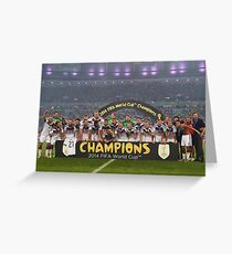 Germany World Cup 2014 Champions Picture Greeting Card