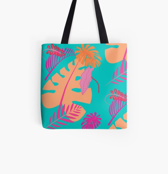 Tropical Summer Sunset Flower All Over Print Tote Bag