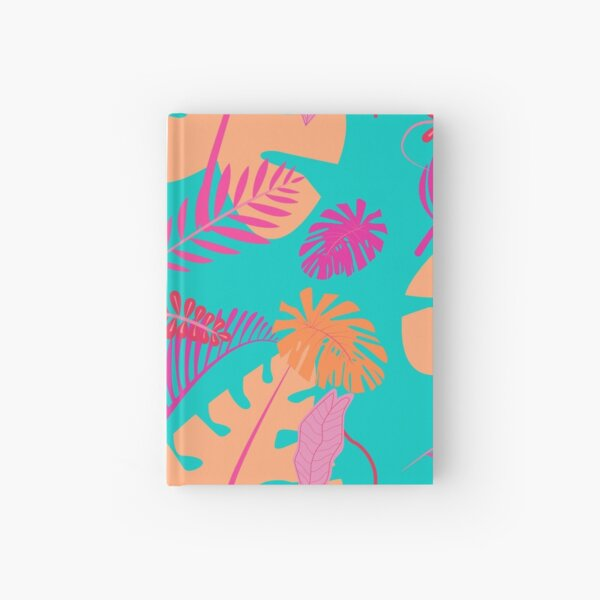 Tropical Summer Sunset Flower Hardcover Journal