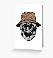 Rorschach Mask Greeting Card