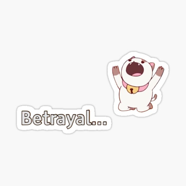 puppycat betrayal  Sticker