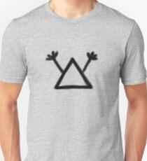 Hobo Symbol: Man with gun (black print) T-Shirt