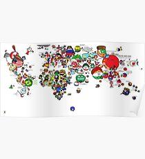 Polandball World Poster