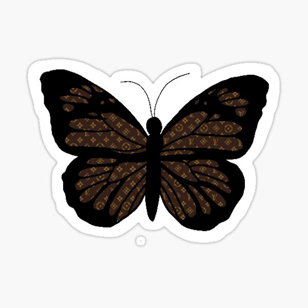 Papillon Louis Vuitton Sticker