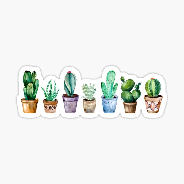 Cactus and little plants Sticker