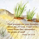Sand Ripples- Psalm 139:17-18 by Diane Hall