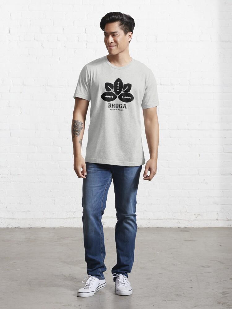 Alternate view of Broga: The Official Yoga for Bros Logo Essential T-Shirt