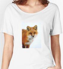 Winter Fox - Close Up Women's Relaxed Fit T-Shirt