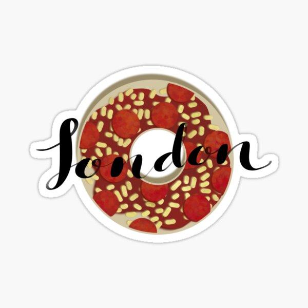 London pizza bagel sticker Sticker