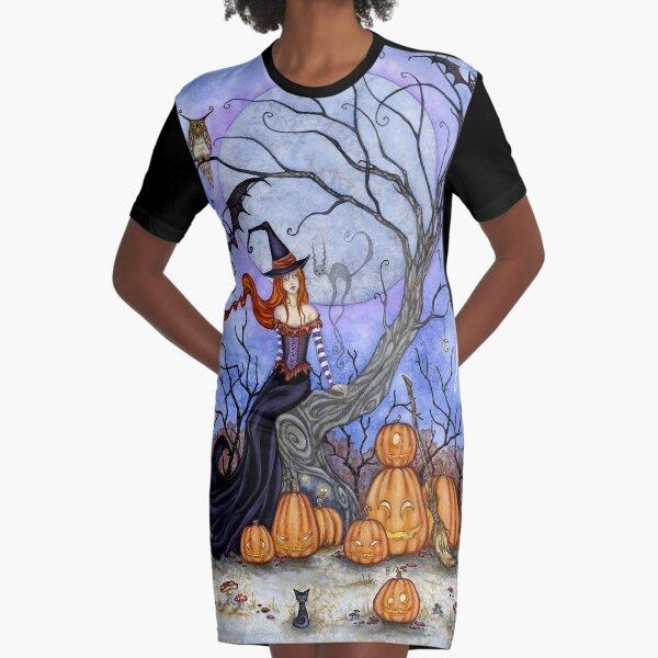 The Halloween Tree Graphic T-Shirt Dress