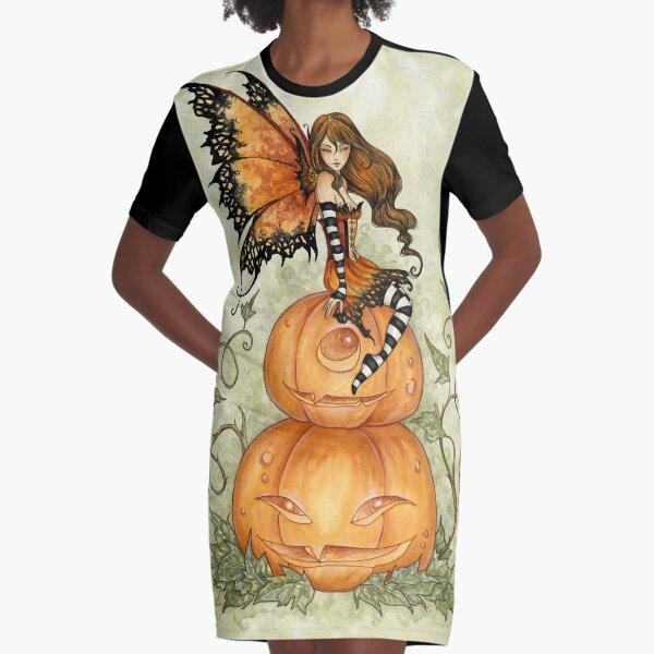 Halloween Fae Graphic T-Shirt Dress