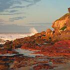 Stormy Sunset at Merimbula NSW by Pauline Tims