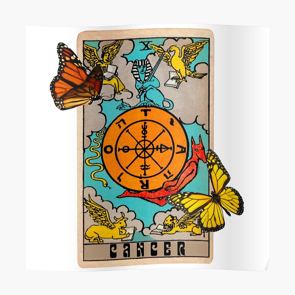 Cancer Tarot Card Zodiac Sign Sticker By Angelslover Redbubble