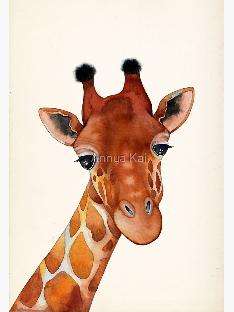 Giraffe Watercolor by ClearJadeStudio