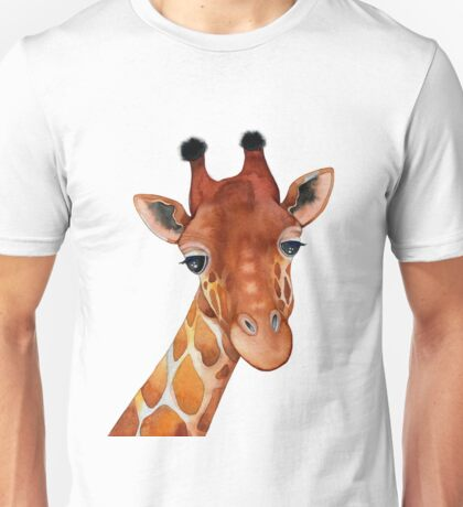 Giraffe Watercolor Unisex T-Shirt